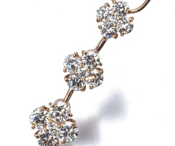 モニッケンダム ネックレス ダイヤモンド 1.35ct フラワー K18PG