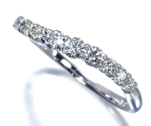 ポンテヴェキオ リングダイヤモンド 0.32ct ウェーブ K18WG