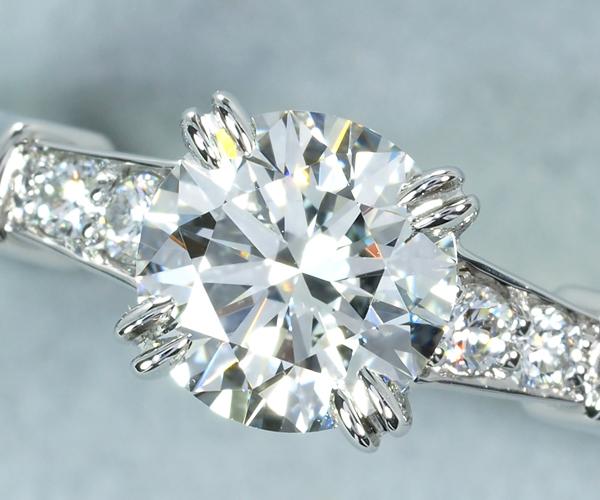 ハリーウィンストン リング ダイヤモンド 0.72ct F VS2 3EX トリスト 9号 Pt950