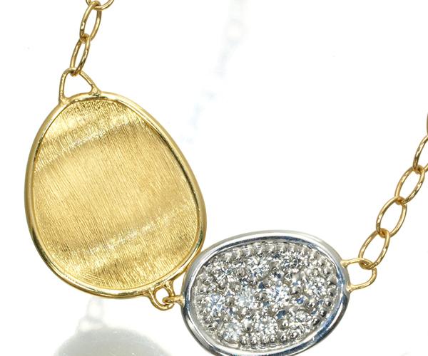 マルコビチェゴ ネックレス ダイヤモンド ルナリア K18YG/WG