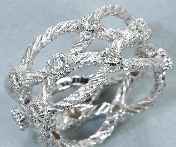 ジャンマリア ブチェラッティ リング ダイヤモンド  K18WG 13号