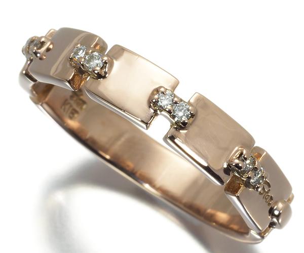 スタージュエリー リング ダイヤモンド 0.07ct 11号 K18PG