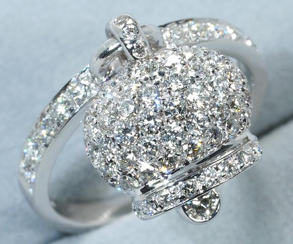 シャンテクレール リング ダイヤモンド 幸運のベル 11号 K18WG