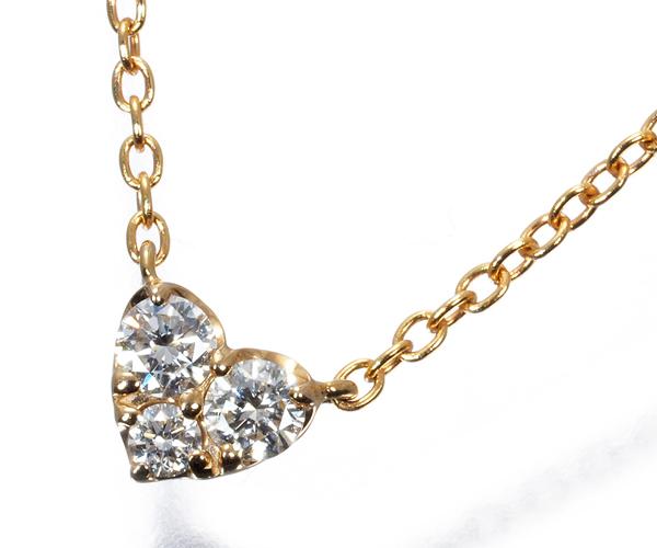 ポンテヴェキオ ネックレス ダイヤモンド 0.10ct ハート K18PG