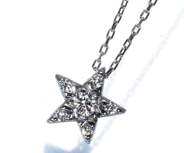 スタージュエリー ネックレス ダイヤモンド 0.08ct スター Pt950