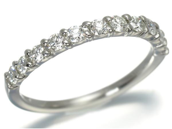 4℃ ヨンドシー リング ダイヤ ダイヤモンド ハーフエタニティ Pt950/プラチナ