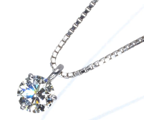 TASAKI タサキ ネックレス ダイヤモンド 0.30ct 一粒 K18WG