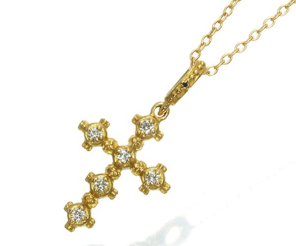 アーカー ネックレス ダイヤモンド ミニメモリアルクロス K18YG