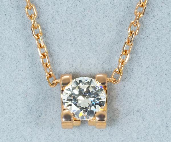カルティエ ネックレス ダイヤモンド Cドゥ K18PG