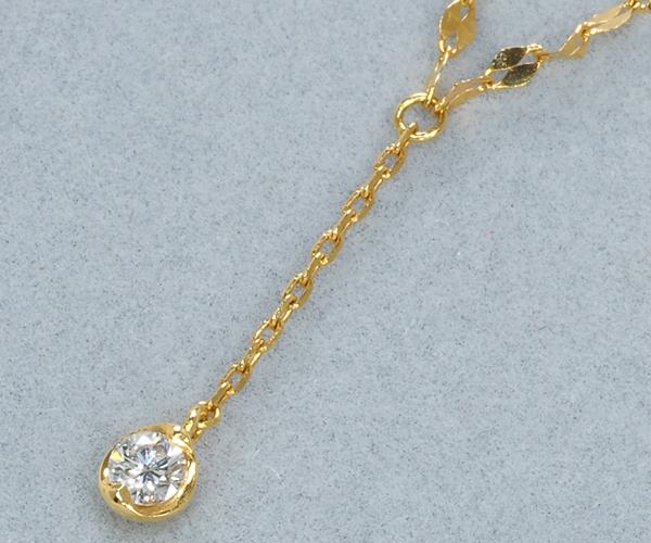 スタージュエリー ネックレス ダイヤモンド 0.03ct K18YG