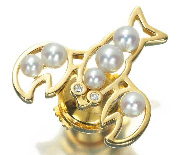 TASAKI タサキ ブローチ アコヤ真珠 パール ダイヤモンド ザリガニ K18YG