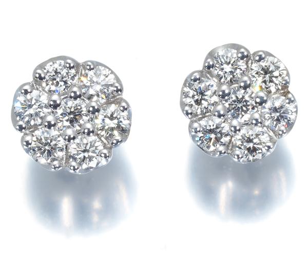 ポンテヴェキオ ピアス ダイヤモンド 0.22ct/0.22ct フラワー K18WG