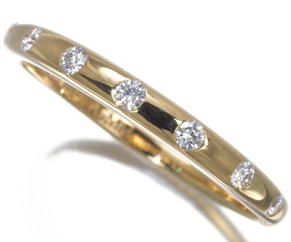 ブルガリ リング ダイヤモンド 7P フェディ 10号 K18YG