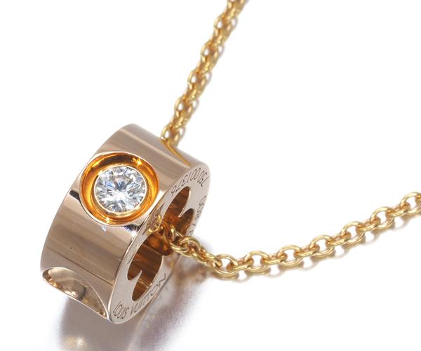 ルイヴィトン ネックレス ダイヤモンド パンダンティフ アンプラント K18PG