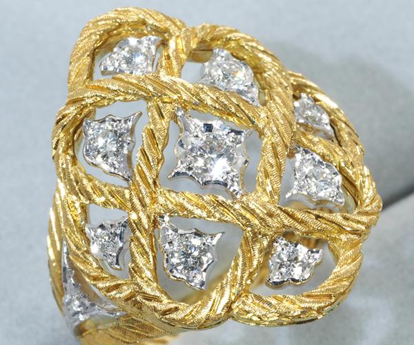 ブチェラッティ リング ダイヤモンド 16号 K18YG