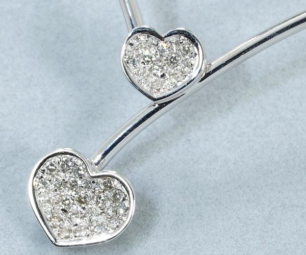 ポンテヴェキオ ネックレス ダイヤモンド 0.24ct ハート K18WG