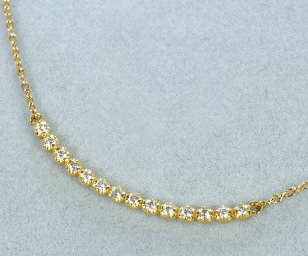 アーカー ネックレス ダイヤモンド 0.10ct ビリーブユー K18YG