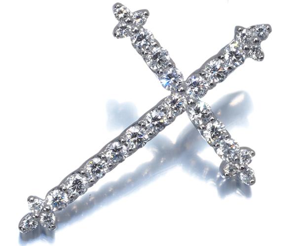 ポンテヴェキオ ペンダントトップ ダイヤモンド 1.00ct クロス Pt900