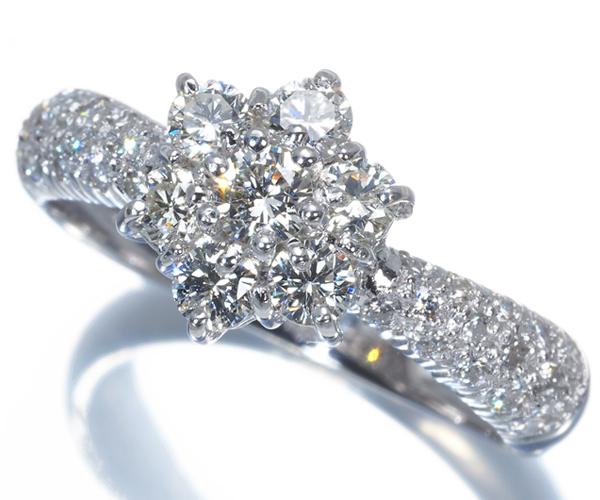 ポンテヴェキオ リング ダイヤモンド 0.82ct フラワー K18WG
