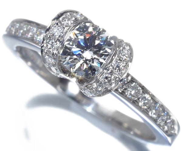 ティファニー リング ダイヤモンド 0.5ct程 リボン 11.5号Pt950