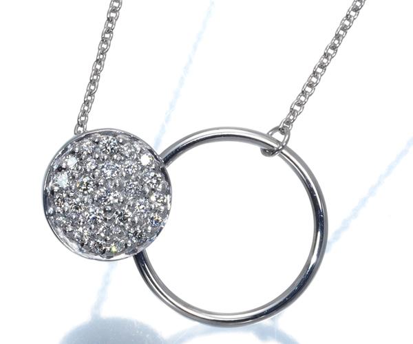 ジョージジェンセン ネックレス ダイヤモンド パヴェ K18WG