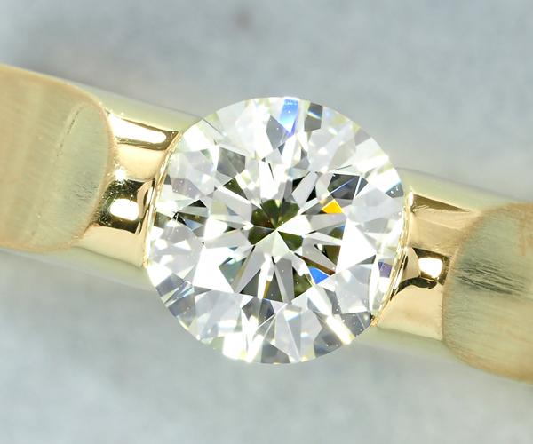 ニーシング リング ダイヤモンド 1.014ct 9号 K18YG