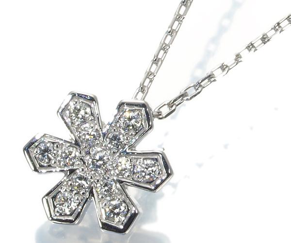 ヴァンドーム ネックレス ダイヤモンド スノーフレーク Pt950/Pt850