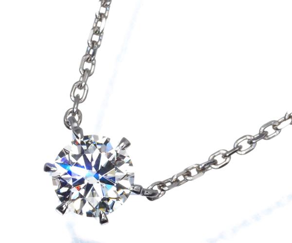 スタージュエリー ネックレス 一粒 ダイヤモンド 0.305ct G VS2 3EX Pt950