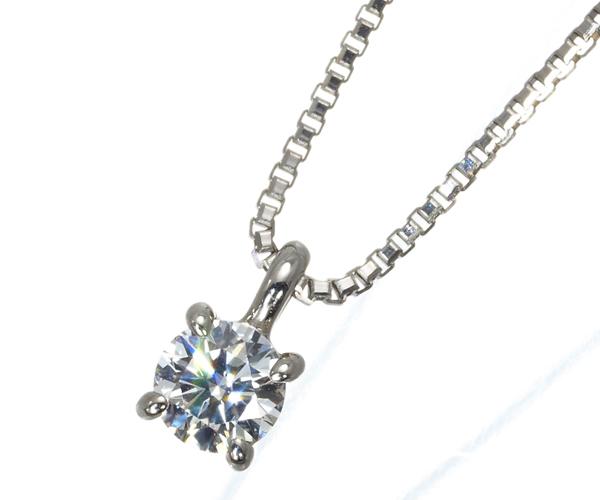 4℃ ヨンドシー ネックレス ダイヤモンド 一粒 Pt850