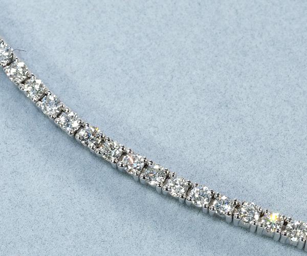 モーブッサン ブレスレット ダイヤモンド 1.5ct程 テニス K18WG