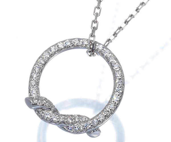 カルティエ ネックレス ダイヤモンド アントルラセ K18WG