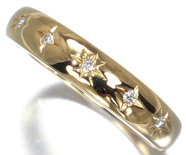 スタージュエリー リング ダイヤモンド 8号 K18YG