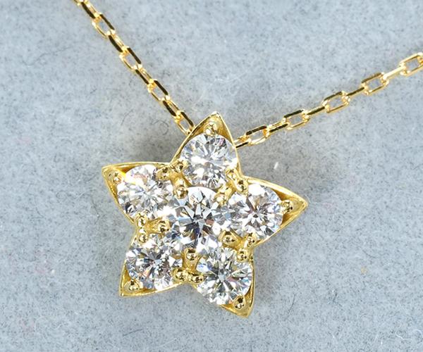 アーカー ネックレス ダイヤモンド 0.20ct プルミエトワール 星 K18YG