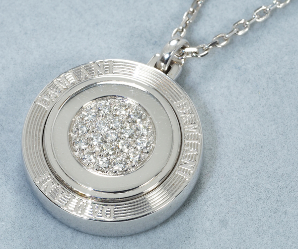 ダミアーニ ネックレス ダイヤモンド サークル リバーシブル K18WG