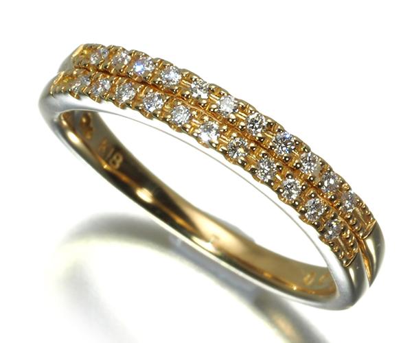スタージュエリー ピンキーリング ダイヤモンド 0.05ct 1号 K18YG