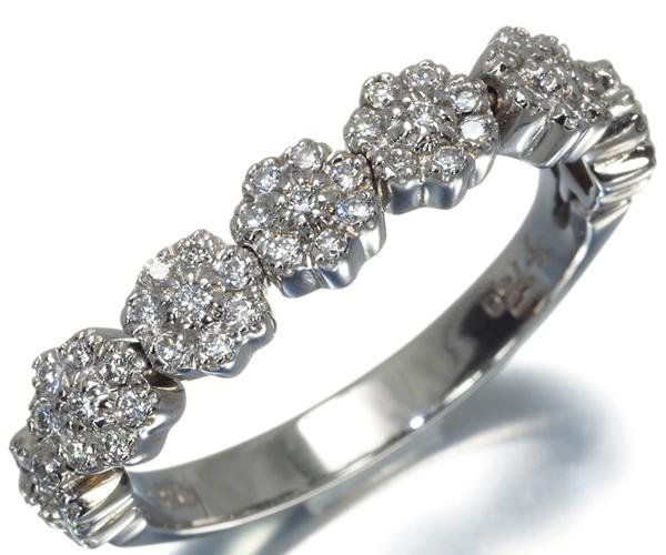 ポンテヴェキオ リング ダイヤモンド 0.35ct フラワー K18WG