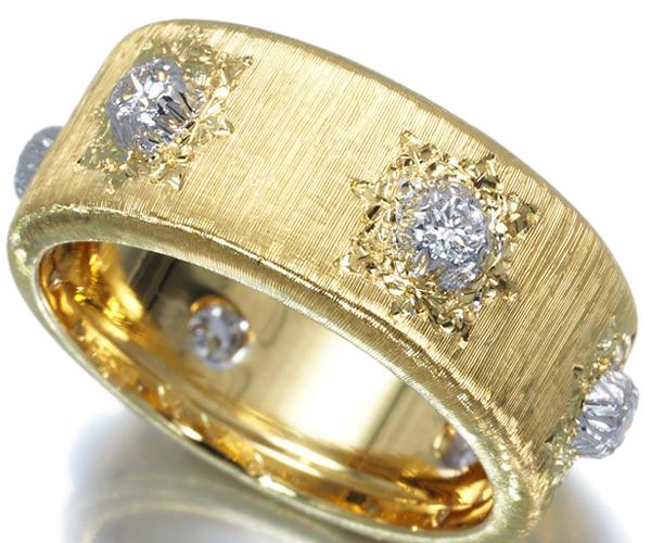 ジャンマリアブチェラッティ リング ダイヤモンド 12号 K18YG/WG