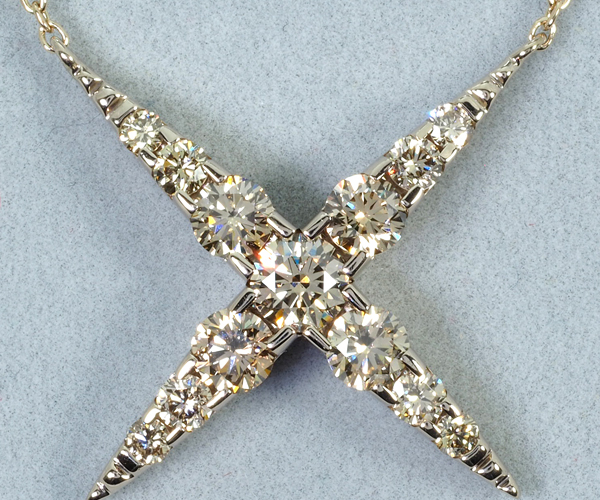 カシケイ ネックレス ダイヤモンド 1.00ct ネイキッド K18BG