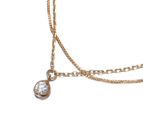 ヴァンドーム ブレスレット ダイヤモンド 2連 K18PG