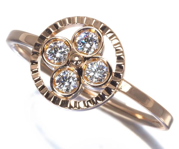 ルイヴィトン リング ダイヤモンド バーグサンブロッサム フラワー K18PG