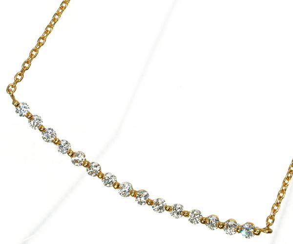 モニッケンダム ネックレス ダイヤモンド 0.33ct ブランコ K18YG