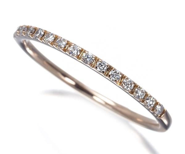 スタージュエリー リング ダイヤモンド 0.08ct ハーフエタニティ 7号 K18PG