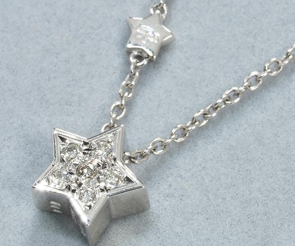 スタージュエリー ネックレス ダイヤモンド 0.08ct スターモチーフ Pt900
