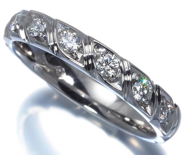 ショーメ リング ダイヤモンド 7P トルサード 16.5号 Pt950