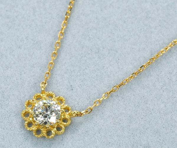 アーカー ネックレス ダイヤモンド K18YG