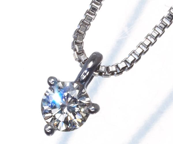 TASAKI タサキ ネックレス 一粒 ダイヤモンド 0.12ct K18WG