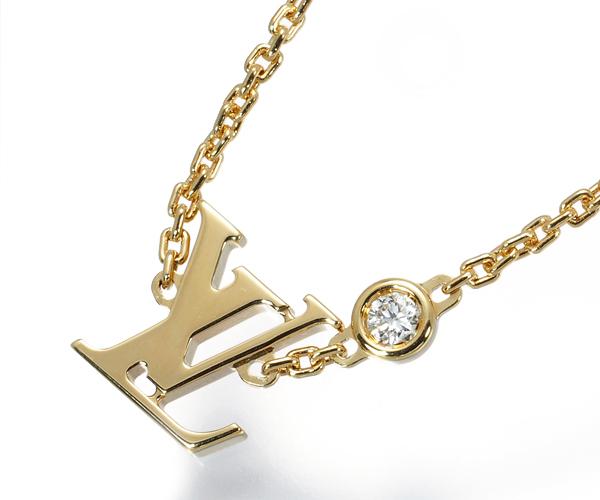 ルイヴィトン ネックレス ダイヤモンド ルイヴィトンロゴ パンダンティフ イディール ブロッサム K18YG