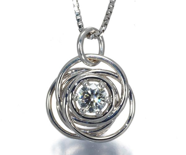 フォーエバーマーク ネックレス ダイヤモンド 0.161ct ミルモワ K18WG
