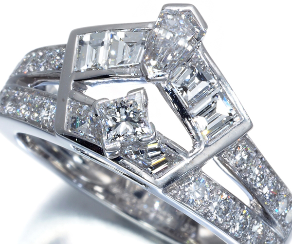 ヴァンクリーフ&アーペル リング ダイヤモンド 52号 K18WG