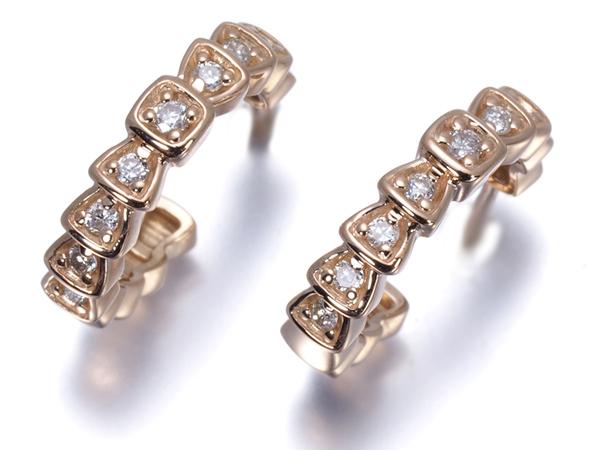 4℃ ヨンドシー ピアス ダイヤ ダイヤモンド K18PG